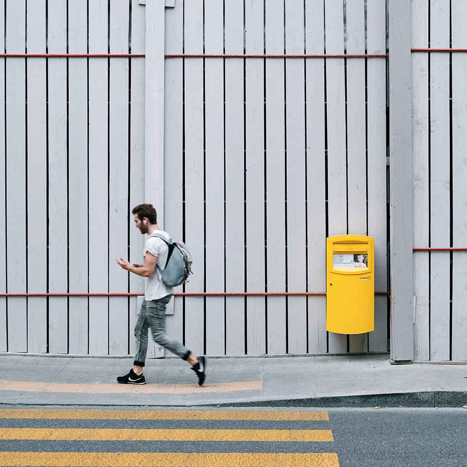 Guy walking in the streets